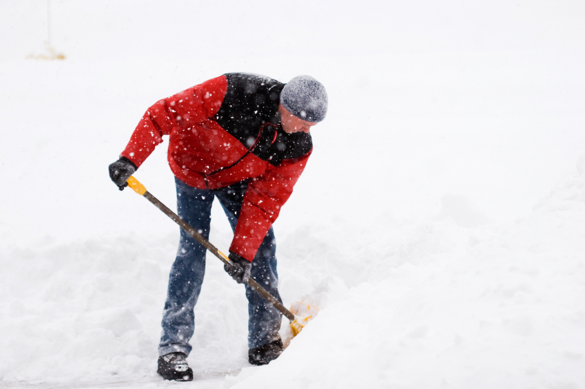 Why does my back hurt after shoveling snow?